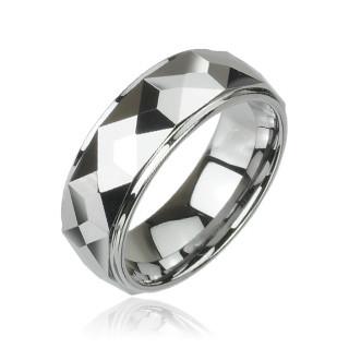 Wolfrámový prsteň Spikes 023