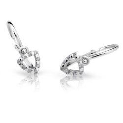 Detské náušnice Cutie Jewellery C2155B CZ White -Biele zlato 585/000