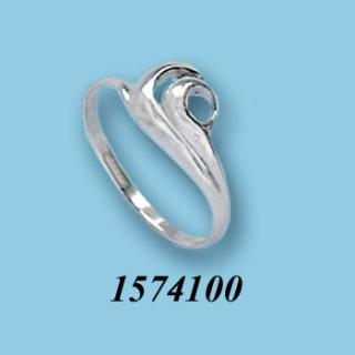Strieborný prsteň 1574100