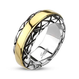 Oceľový prsteň Spikes 2002