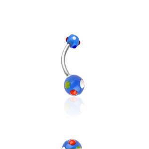 Piercing pupku 1622-BLUE