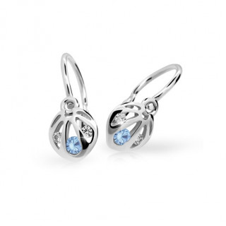 Náušnice pre bábätko zo zlata Cutie Jewellery C2265B Arctic Blue