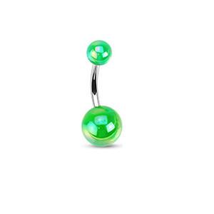 Piercing pupku 1103 - Green