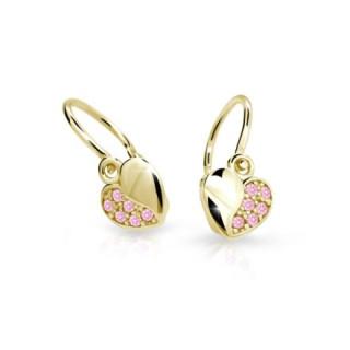 Detské náušnice Cutie Jewellery C2160Z-Pink