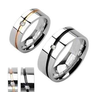 Oceľový prsteň Spikes 1002