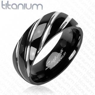 Titanový prsteň Spikes 3558
