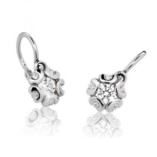 Detské zlaté naušnice Cutie Jewellery C2178B CZ White