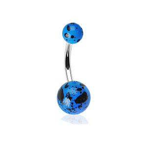 Piercing pupku 012-BLUE