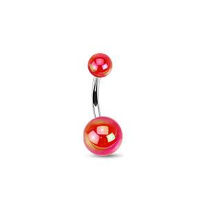 Piercing pupku 1103 - Red