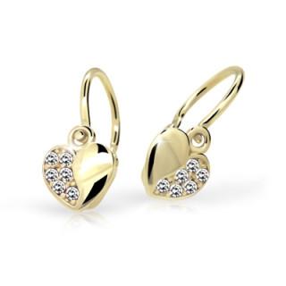 Detské náušnice Cutie Jewellery C2160Z CZ White