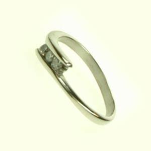 Oceľový prsteň so zirkónmi R1093