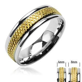 Oceľový prsteň Spikes 1608