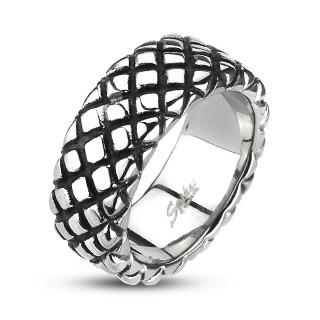 Oceľový prsteň Spikes 2005