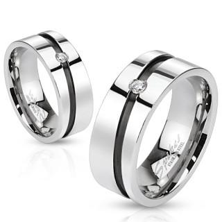Oceľový prsteň Spikes 1012