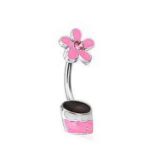 Piercing pupku 12773 - Pink