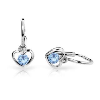 Zlate detské naušnice Cutie Jewellery C1943B-Arctic Blue