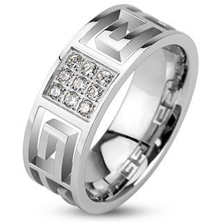 Oceľový prsteň Spikes 2146
