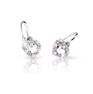 Náušnice pre deti zlate Cutie Jewellery C2157B-Pink