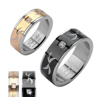 Oceľový prsteň Spikes 1621