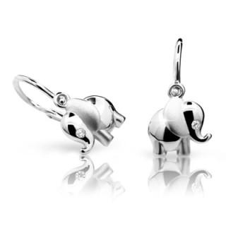 Detské náušnice Cutie Jewellery C1955B -Biele zlato 585/000
