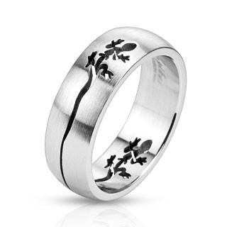 Oceľový prsteň Spikes 2478