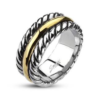 Oceľový prsteň Spikes 2003