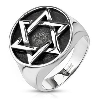 Pánsky prsteň 8056 - Davidova hvězda