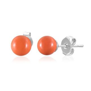 Oceľové náušnice SESSE0105 - Orange