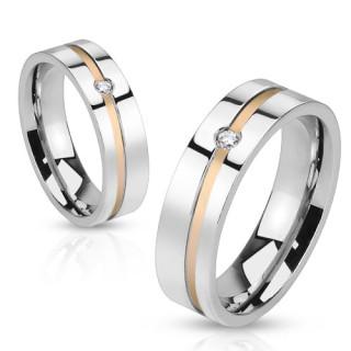 Snubné prstene z chirurgickej ocele 1011