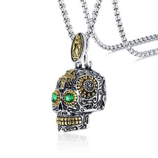 Oceľový náhrdelník s lebkou JCFPN-1158