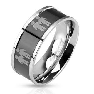 Oceľový prsteň 3042-Muž