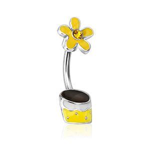 Piercing pupku 12773 - Yellow