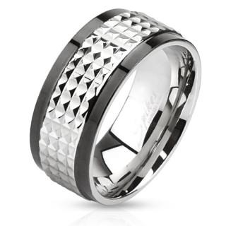 Oceľový prsteň Spikes 2859