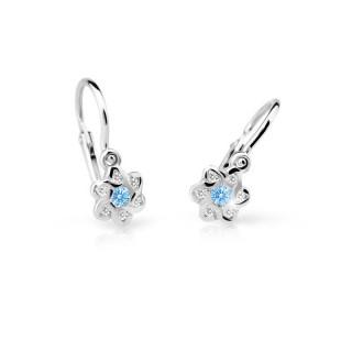 Zlaté detské naušníce Cutie Jewellery C2149B-Arctic Blue