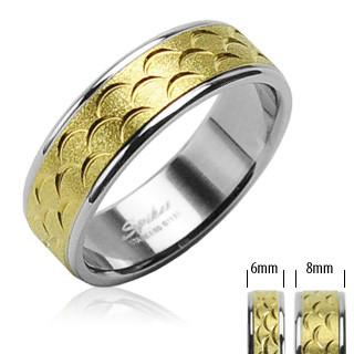 Oceľový prsten Spikes 816