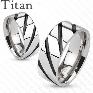 Titánový prsteň Spikes 4380