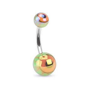 Piercing pupku 1107- Orange