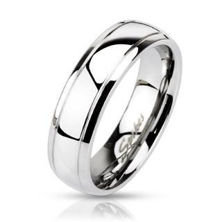 Oceľový prsteň Spikes 0021