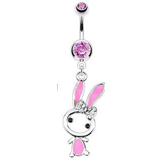 Piercing pupku 12431 - Pink