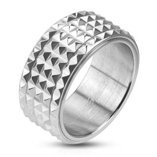 Oceľový prsteň Spikes 2812