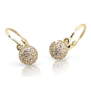 Detské zlaté náušnice Cutie Jewellery C2150Z CZ White