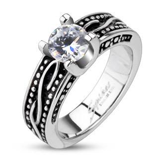 Oceľový prsteň Spikes 2247