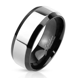 Oceľový pánsky prsteň 3109
