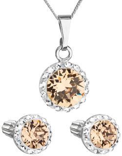 Set strieborných šperkov Swarovski elements 39352.3 Oranžová
