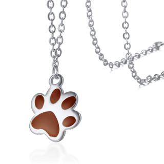ceľový náhrdelník psie tlapičky JCFNC336S